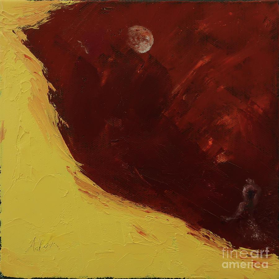 Licensing Painting - Woman In Moonlight by Felipe Adan Lerma