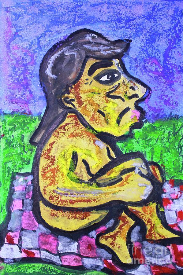 Woman In Moonlight by Odalo Wasikhongo