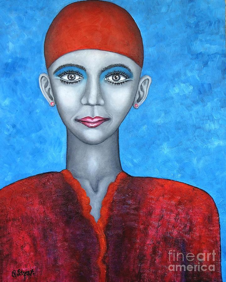 Woman in Red by Caroline Street