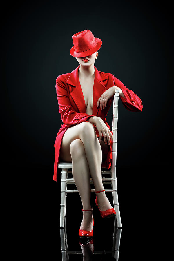 Woman Photograph - Woman In Red by Johan Swanepoel