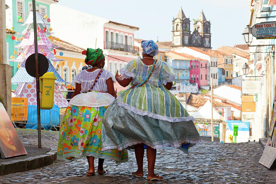 Woman In Traditional Dress, Bahia Photograph by Peter Adams