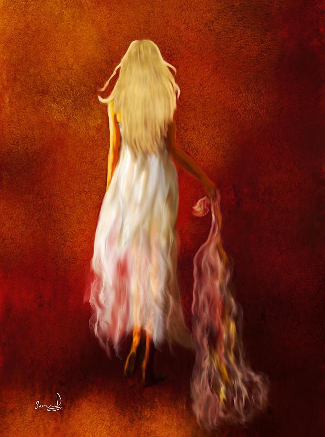 Woman in White by Sannel Larson