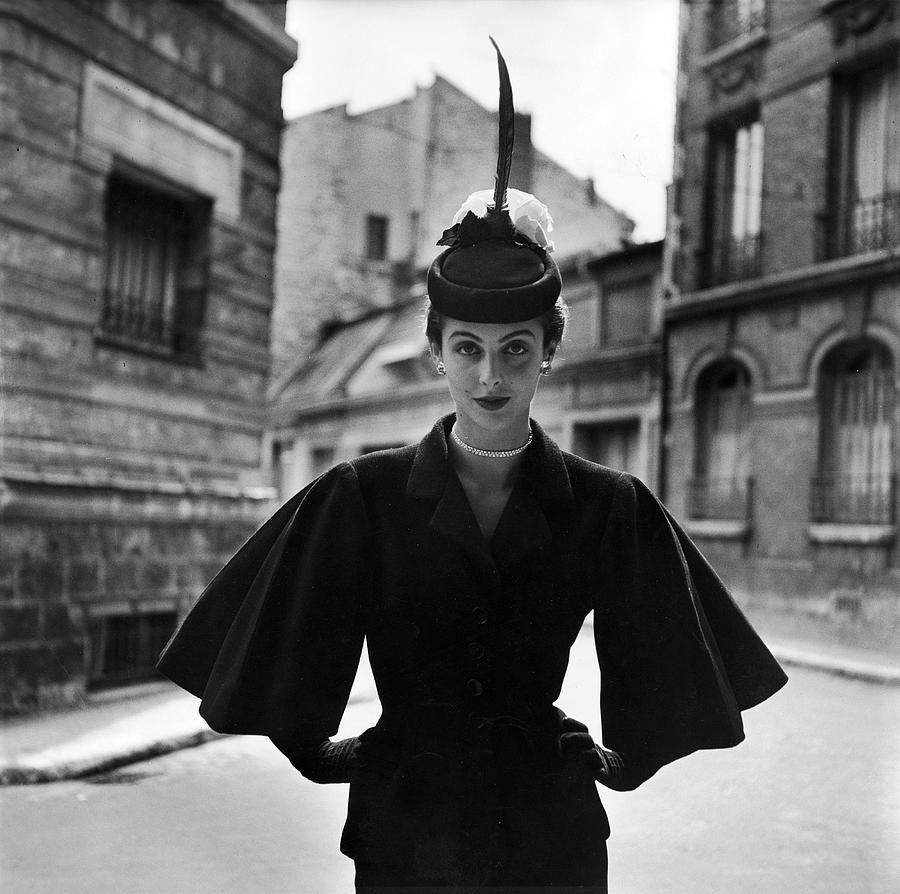 Woman Modeling A Full Sleeved Suit Photograph by Gordon Parks