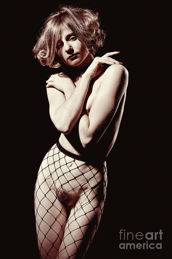 Woman Nude. Image in retro film look. by William Langeveld