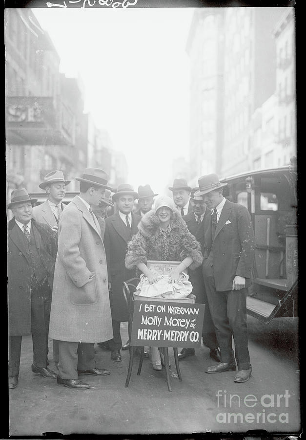 Woman Paying Off Election Bet Photograph by Bettmann