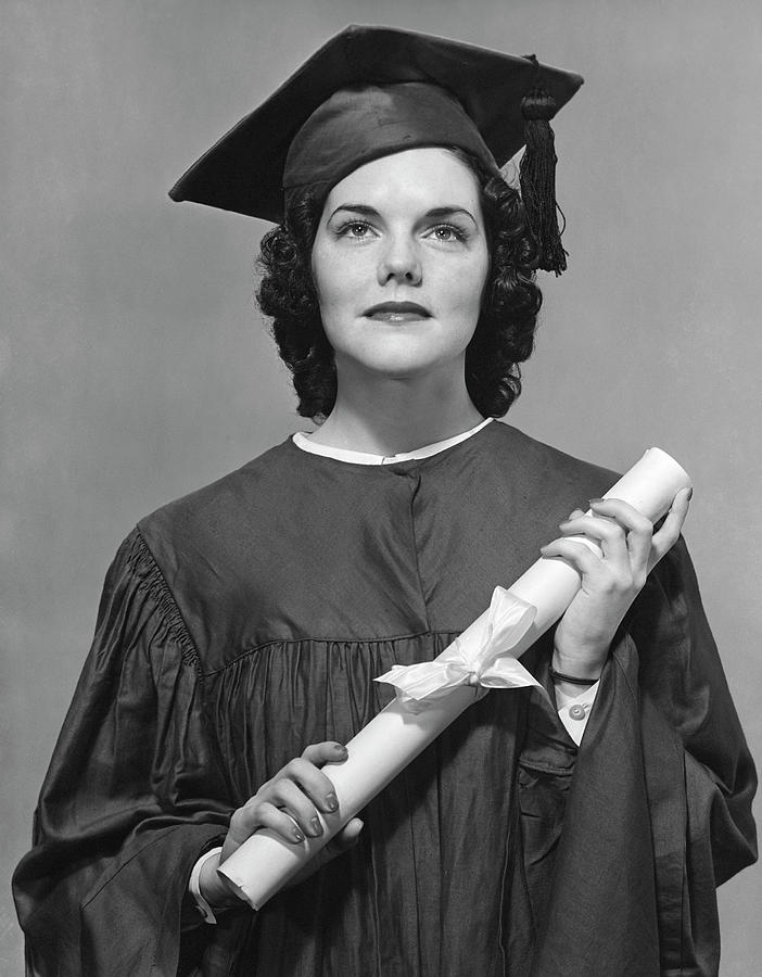 Woman Who Graduated Photograph by George Marks