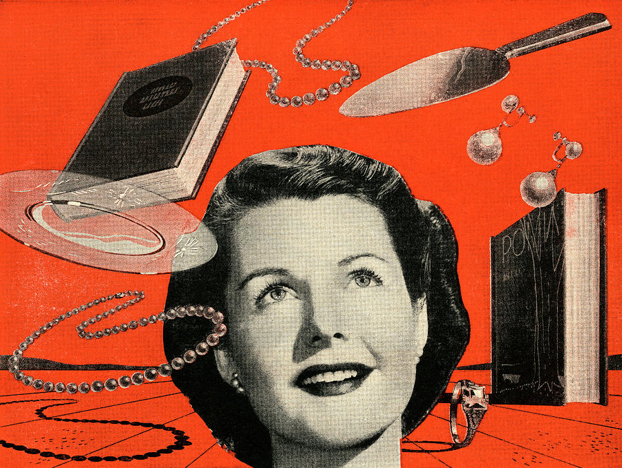 People Digital Art - Woman With Consumer Goods by Graphicaartis