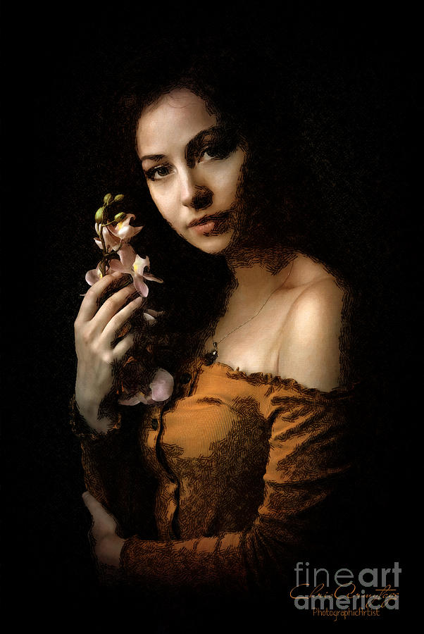 Woman With Orchid by Chris Armytage