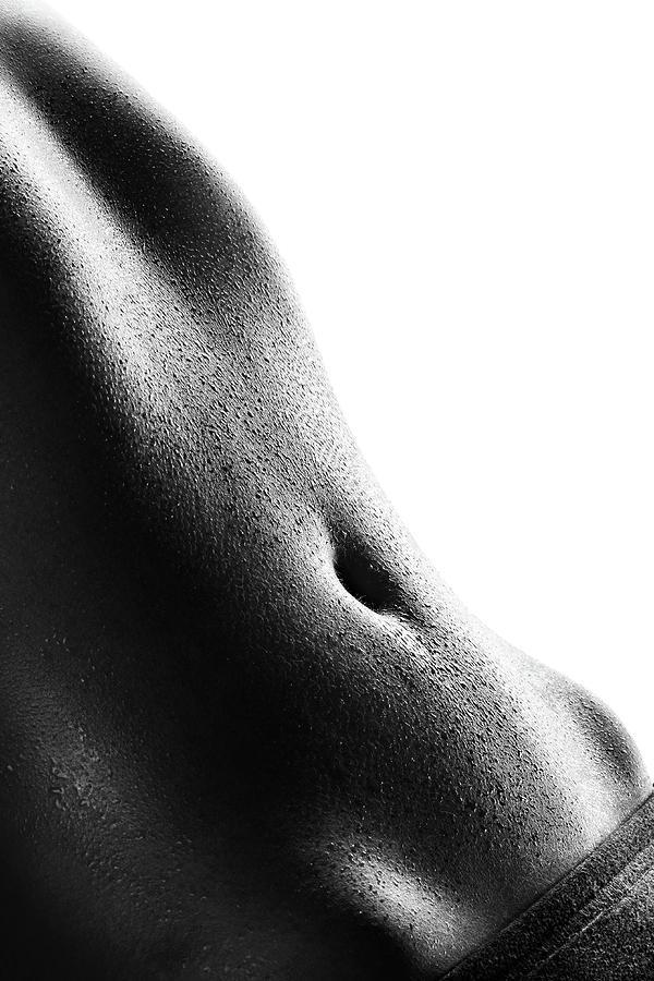 Woman Photograph - Womans Abdomen Full Of Sweat by Johan Swanepoel