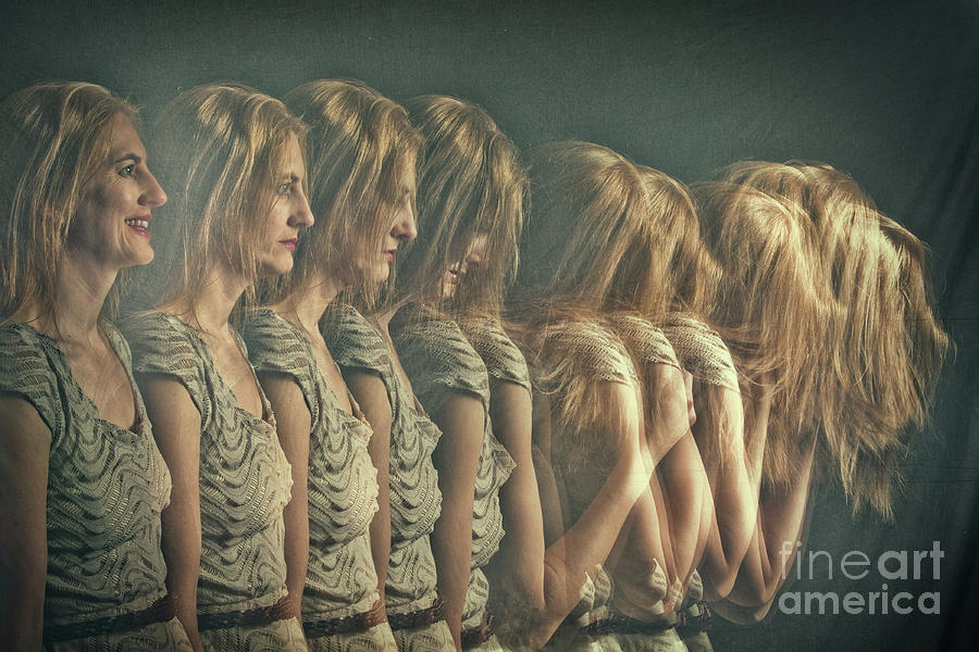 Womans Changing Emotions Photograph by Sdominick