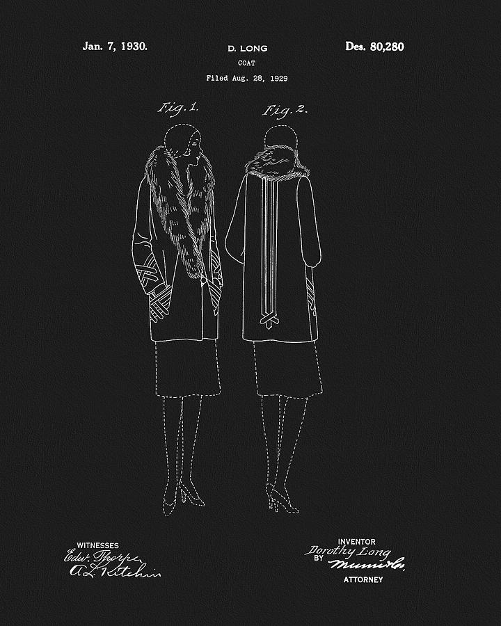 Womans Coat Patent Drawing