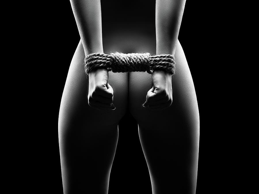 Woman Photograph - Womans Hands In Bondage by Johan Swanepoel