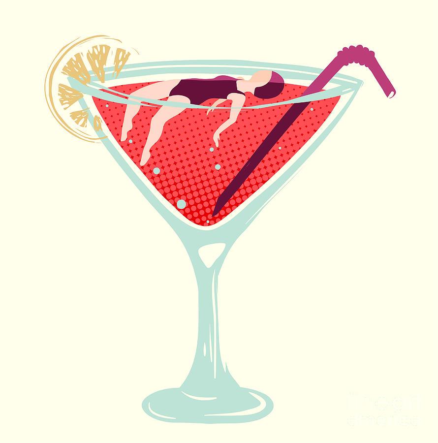Woman Digital Art - Women Alcohol Dependence Problem by Popmarleo