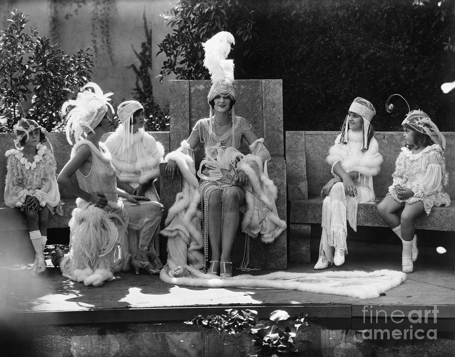 Women And Girls Wearing Stage Costumes Photograph by Bettmann
