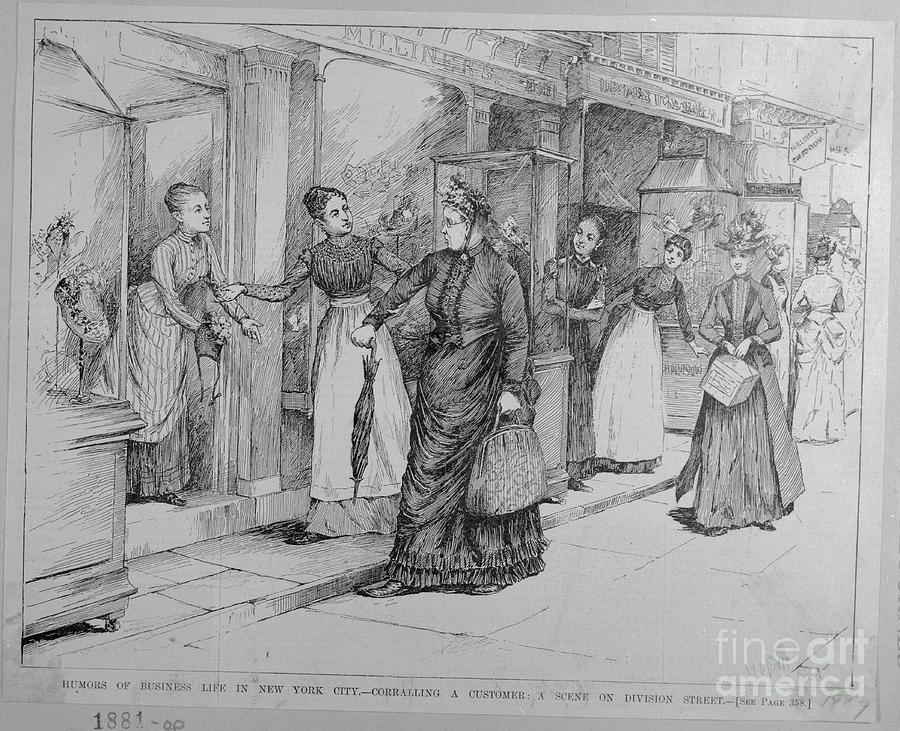 Women Corralling Customer Into Store Photograph by Bettmann