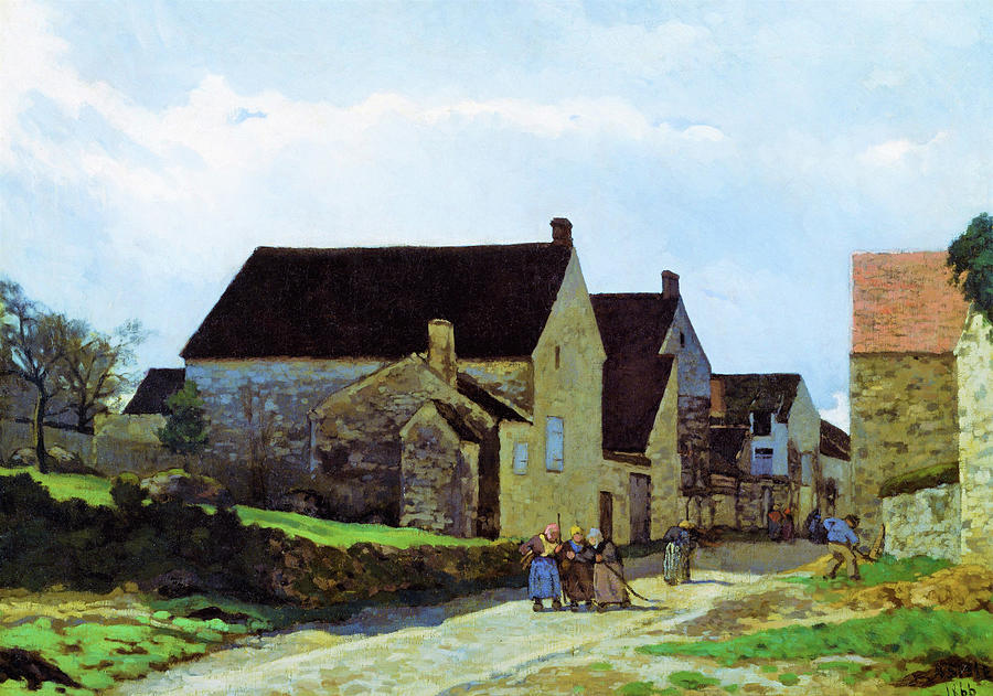 Alfred Sisley Painting - Women Going To The Woods - Digital Remastered Edition by Alfred Sisley