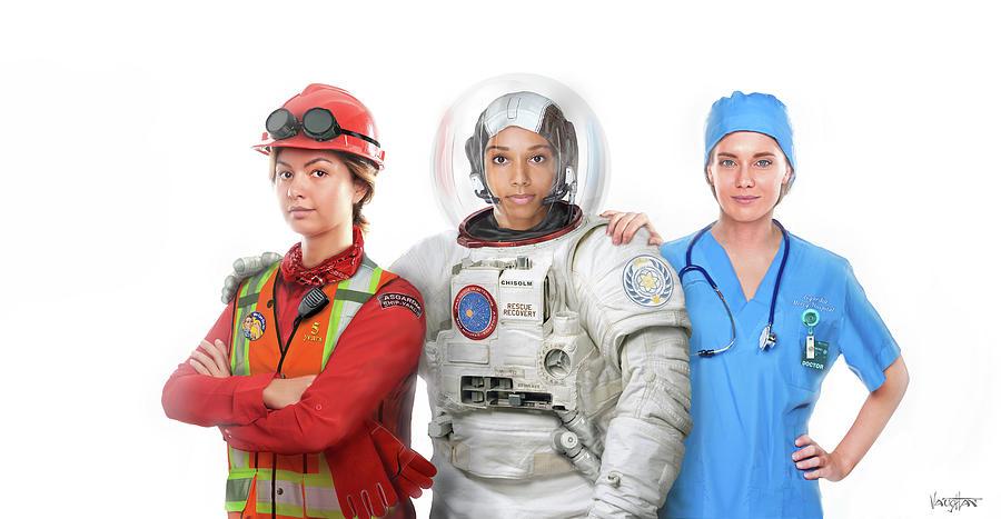 Women - Jobs In Space by James Vaughan