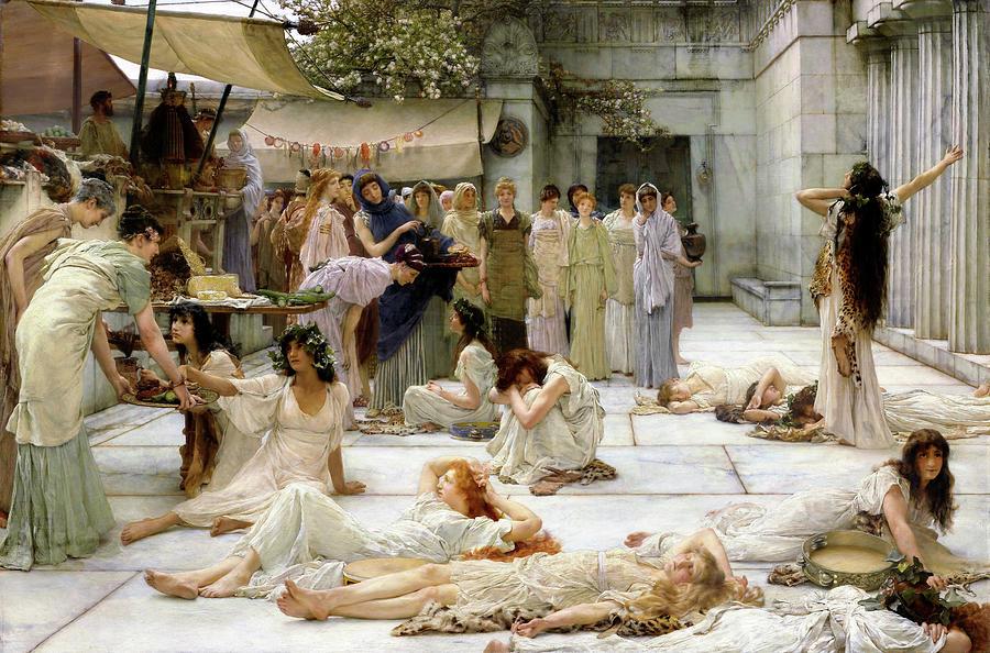 Women of Amphissa - Digital Remastered Edition by Lawrence Alma-Tadema