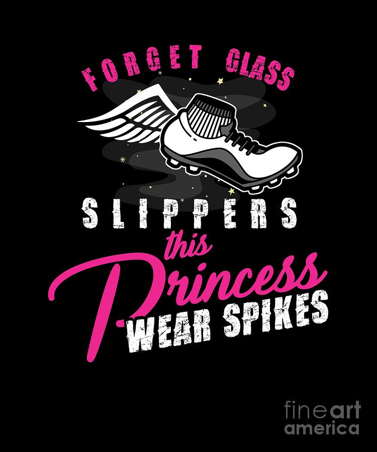 Usa Digital Art - Women Runners Princess Wear Spikes Track Field by Thomas Larch