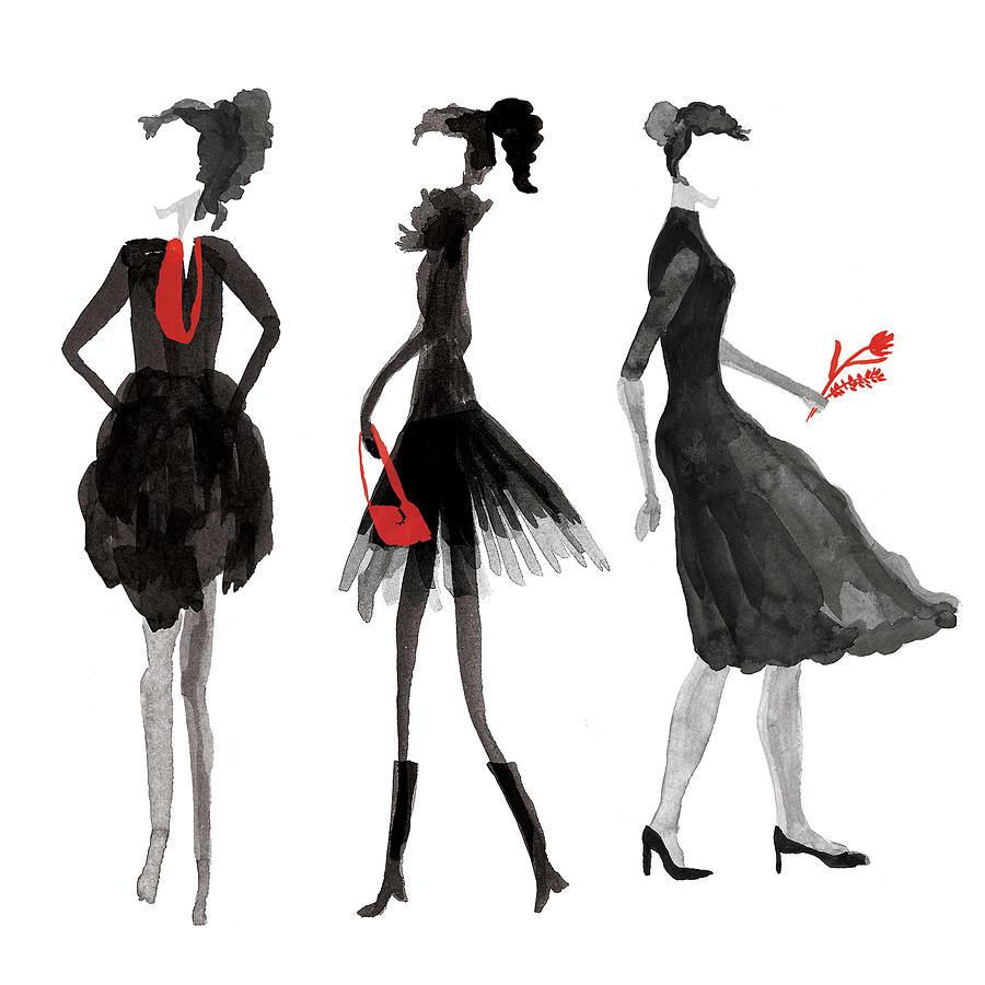Women Silhouettes Digital Art by Catarina Bessell