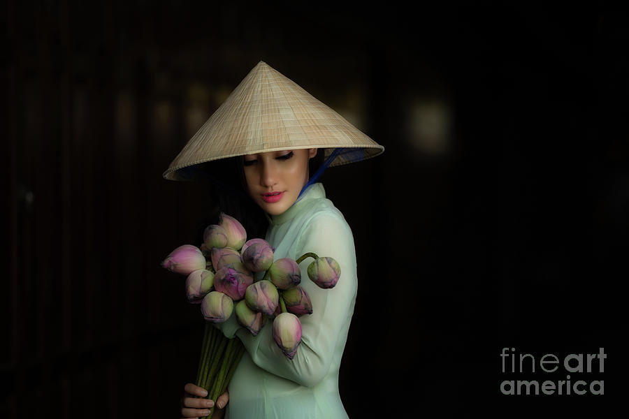 Women Vietnam In Ao Dai Traditional Photograph by Sutiporn Somnam