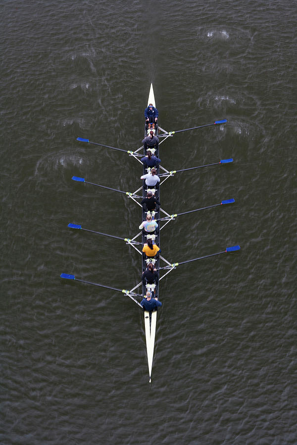 Womens Crew Team Rowing On Schuylkill Photograph by Henry Lederer