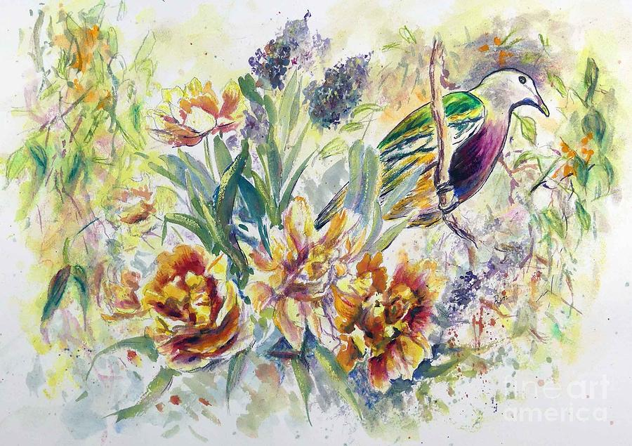Wompoo Fruit Dove by Ryn Shell