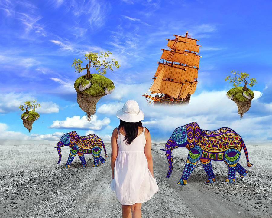 Wonder World Mixed Media - Wonder World by Ata Alishahi