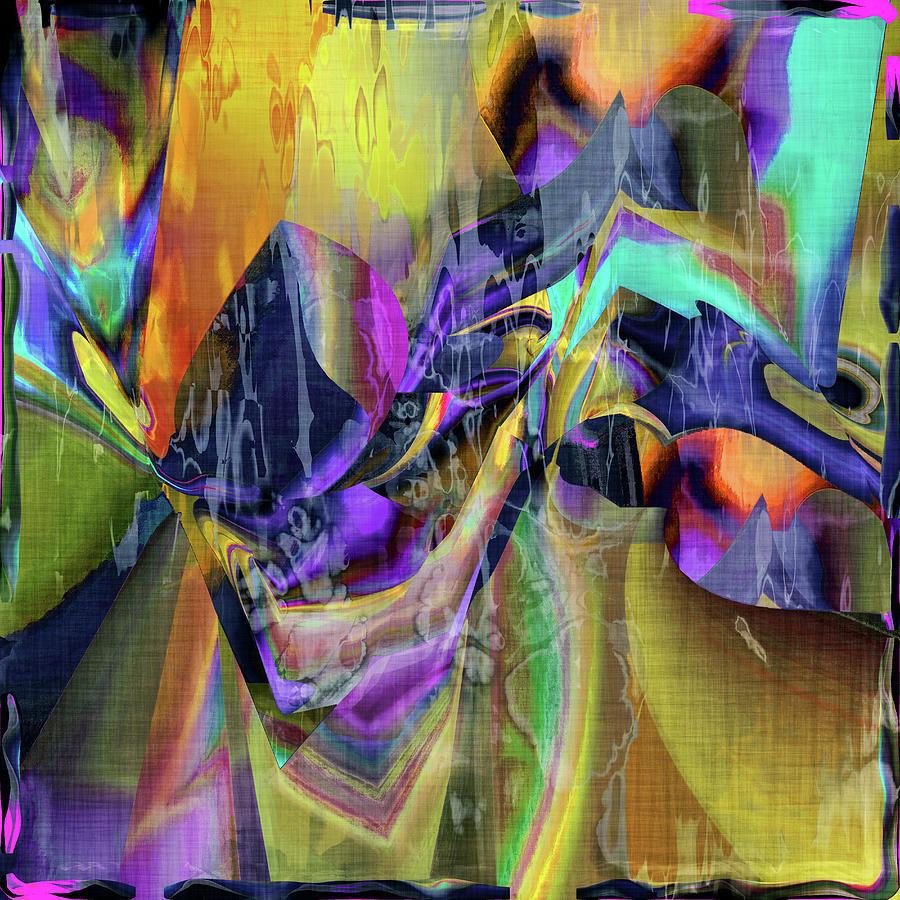 Abstract Digital Art - Wonderful Music Box by Grace Iradian