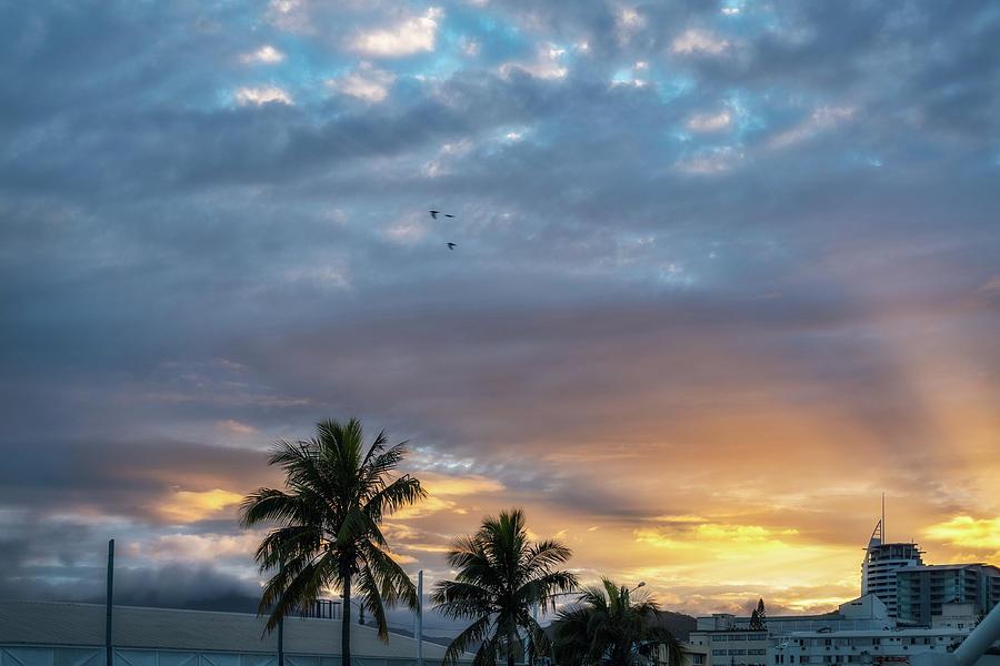 Wonderful Sunburst in the Morning at Sunrise in New Caledonia by Daniela Constantinescu