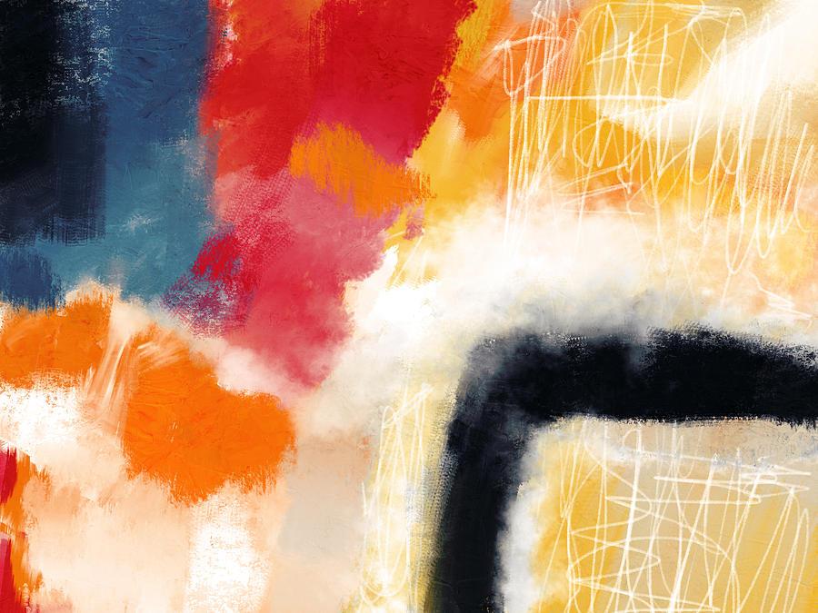 Abstract Mixed Media - Wonderland 4- Art By Linda Woods by Linda Woods