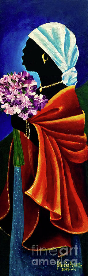 Headscarf Painting - Wondrous Beauty by Patricia Brintle