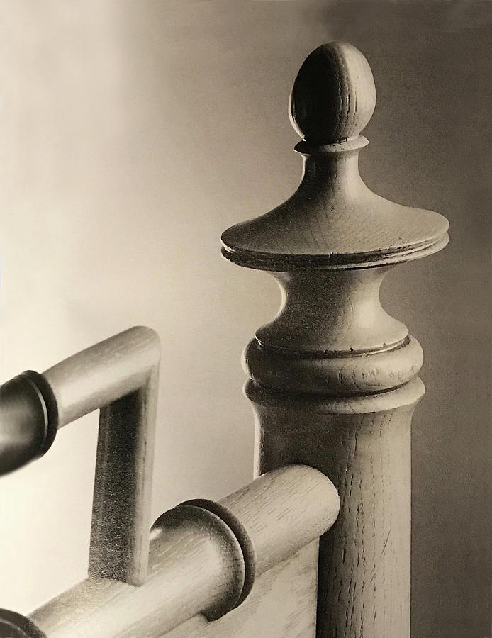 Wood Pedestal Headboard Abstract by Sandi OReilly