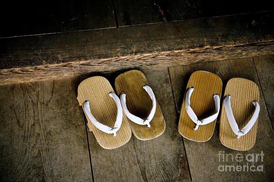 Feet Photograph - Wood Sandals by Kenneth Dedeu