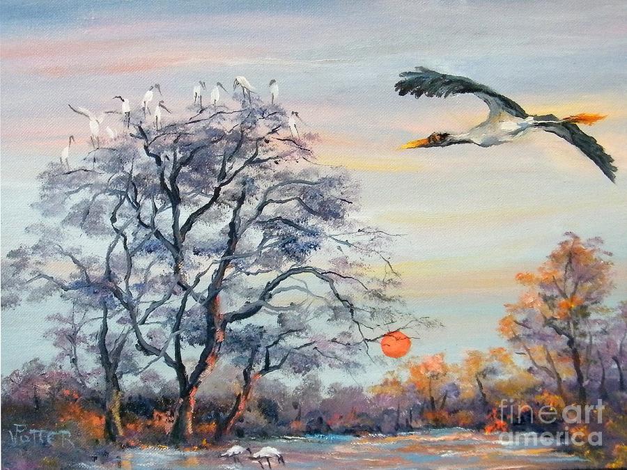 Wood Stork by Virginia Potter
