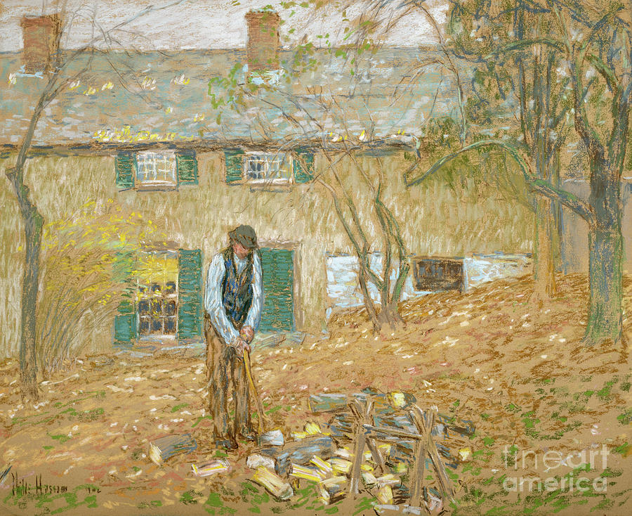 Woodchopper, 1902  by Childe Frederick Hassam