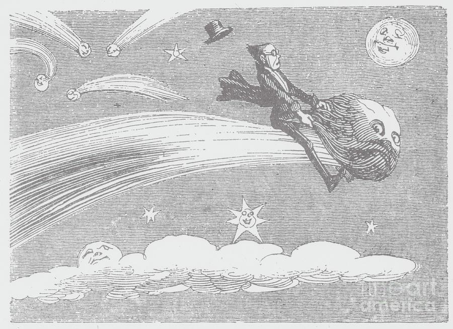 Woodcut Illustration Of A Space Photograph by Bettmann