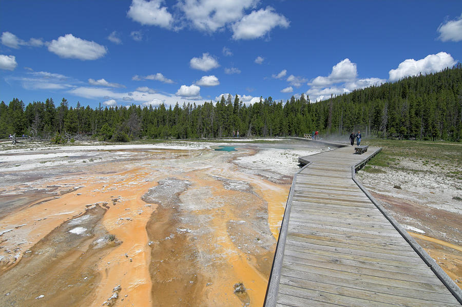 Wooden Boardwalk Over The Mineral Photograph by Neale Clark / Robertharding