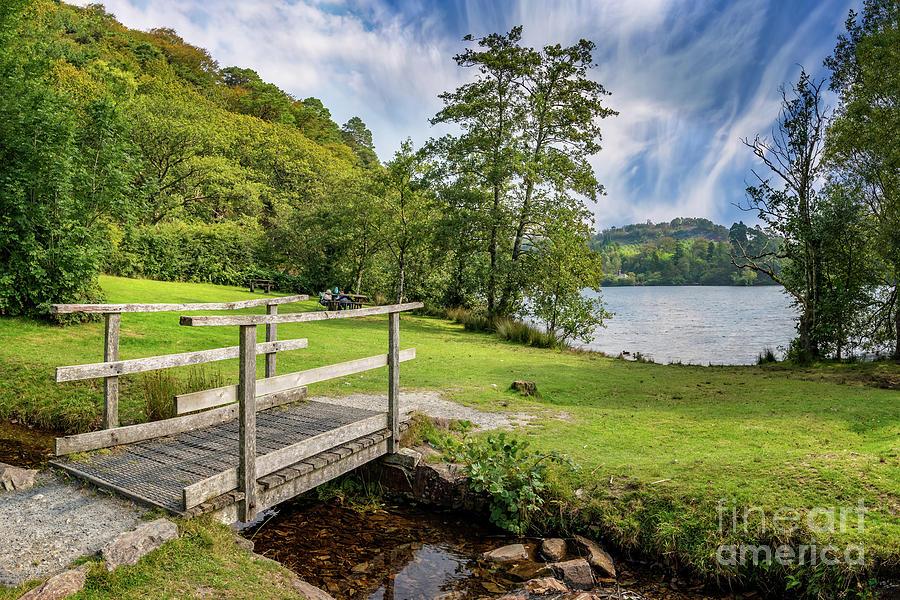 Wooden Bridge to Mair Lake by Adrian Evans