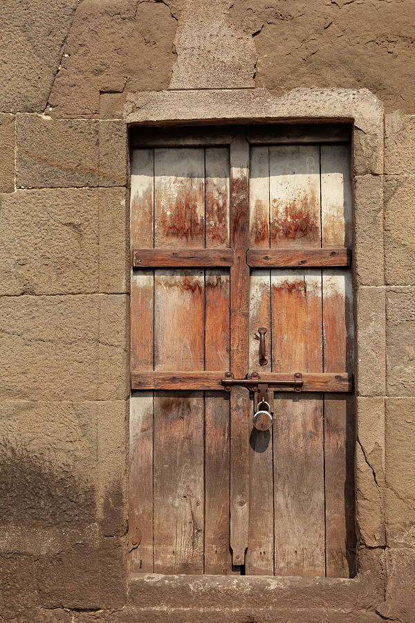Wooden Doorway by Fran Riley