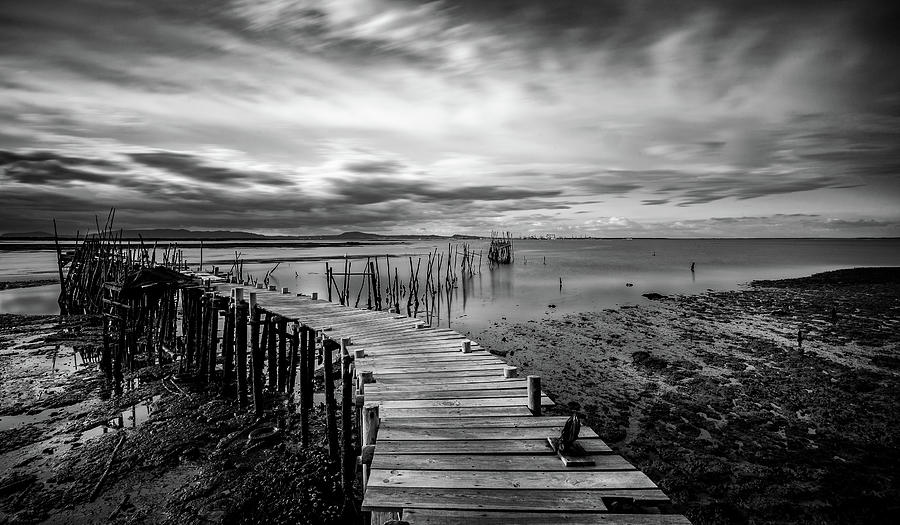 Wooden Fishing Piers Photograph