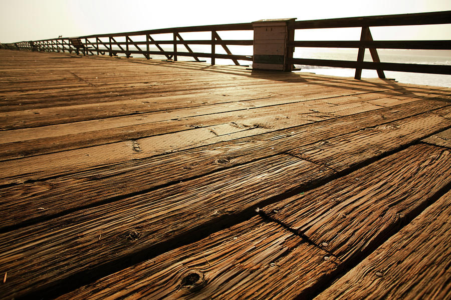 Wooden Pier Photograph by Timnewman