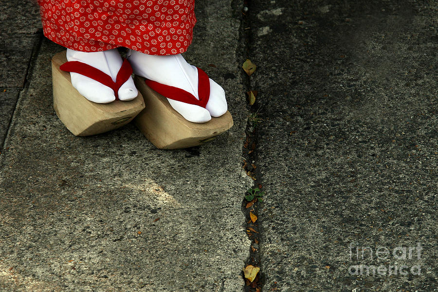 Kyoto Photograph - Wooden Shoes Of Japanese Geisha by Mark Caunt