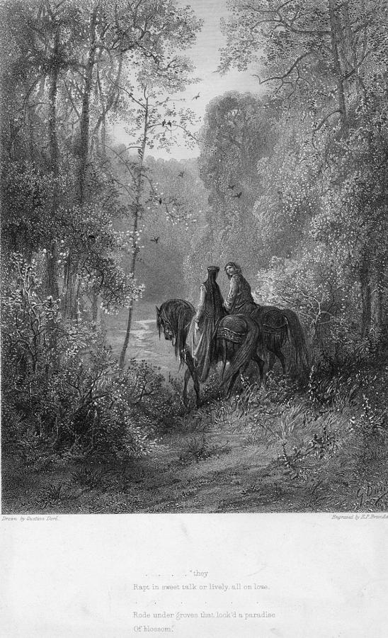 Woodland Lovers Digital Art by Hulton Archive