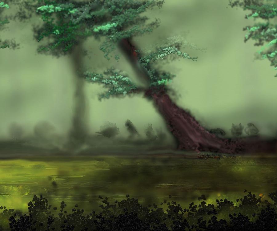 Woodland Meeting by Robert Rearick