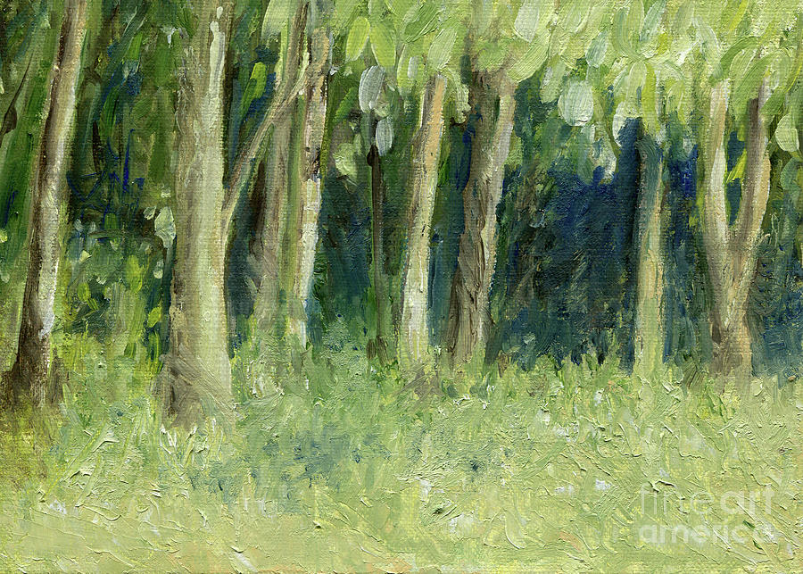 Woodland Tree Line by Laurie Rohner