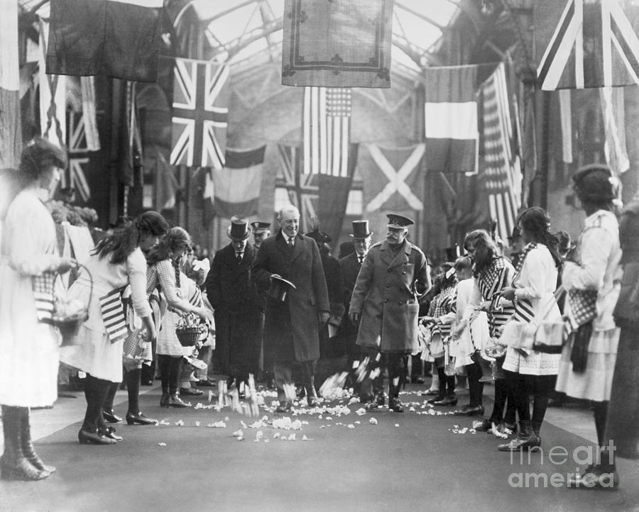 Woodrow Wilson Leading A Processional Photograph by Bettmann