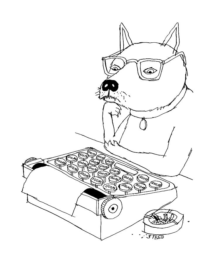 Woof Drawing by Edward Steed