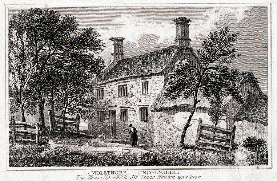 Woolsthorpe Manor, Near Grantham Drawing by Print Collector