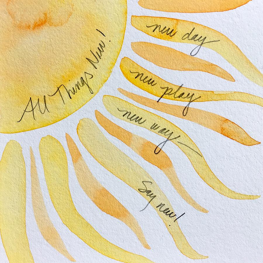 Word Painting 9 by Anna Elkins